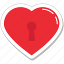 heart key slot, love inspiration, privacy, romantic, slot icon