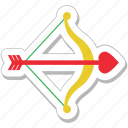 archery, arrow, bow, cupid bow, heart arrow icon