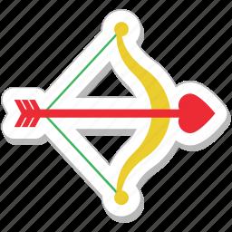 archery, arrow, bow, cupid bow, heart arrow icon