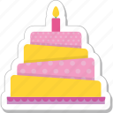 birthday cake, cake, celebration, christmas cake, food icon