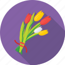 bouquet, flowers, gift, present, tulips icon