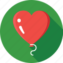 balloon, celebrations, decorations, heart balloons, party icon