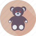 animal, bear, stuffed toy, teddy bear, valentine icon