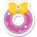 bow, bowtie, hair bow, ribbon bow, wreath icon