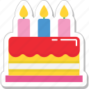 birthday cake, cake, candles, celebration, christmas cake icon