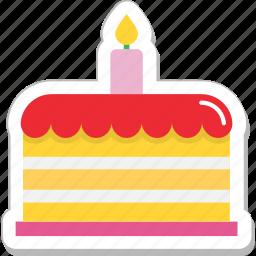 birthday cake, cake, candle, celebration, christmas cake icon