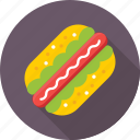 fast food, food, hotdog, hotdog sandwich, junk food icon