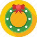christmas, decorations, garland, ornament, wreath icon