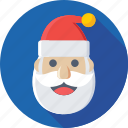 christmas, santa avatar, santa claus, santa face, xmas icon