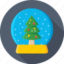 christmas globe, snow dome, snow globe, snowstorm, waterglobe icon