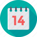 calendar, date, day, valentine day, yearbook icon