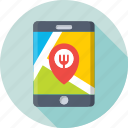gps, map pin, mobile, navigation, tracking device icon