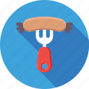 barbecue, bbq, fork, hotdog, sausage icon