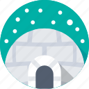 holiday, igloo, snow house, snow hut, winter icon