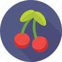 cherry, food, fruit, healthy, stone fruit icon