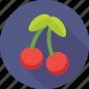 cherry, food, fruit, healthy, stone fruit icon