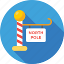 christmas, guide, north pole, signpost, xmas icon