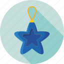christmas, decoration, hanging star, star, xmas icon