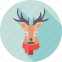 animal, deer, elk, reindeer, rudolf icon