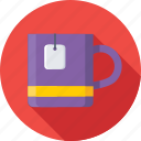 hot drink, instant tea, tea, tea bag, tea cup icon