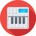 music, music instrument, piano, piano keyboard, synthesizer icon