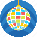 dance ball, disco ball, disco lights, lighting, party icon