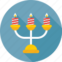 burning, candle holder, candles, decoration, flame