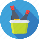 alcohol, champagne, wine, wine bottle, wine bucket icon