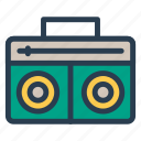 media, music, radio, tape icon