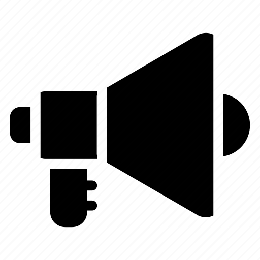 announcement, loud, megaphone, speaker icon