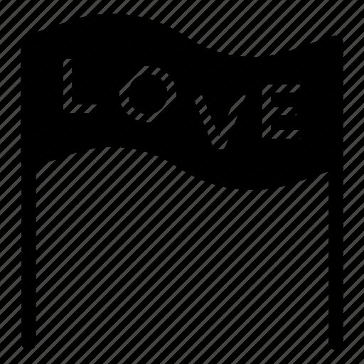 banner, board, love, romance icon
