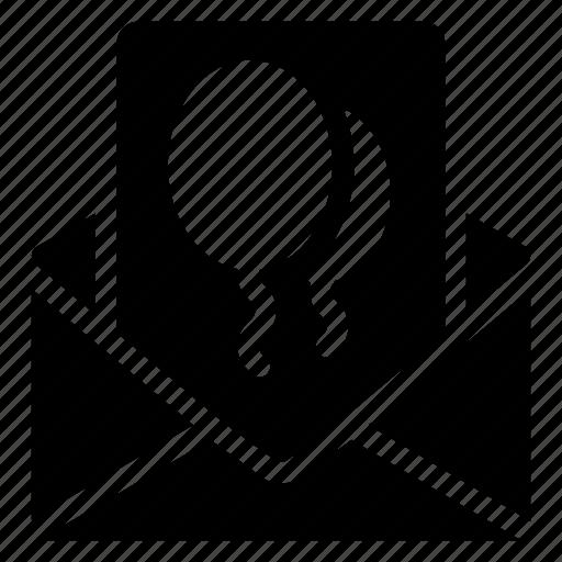 envelope, letter, message, open icon