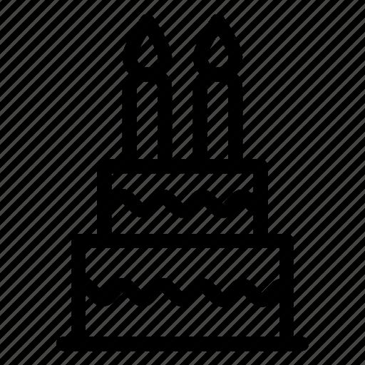 birthday, cake, muffin, sweet icon