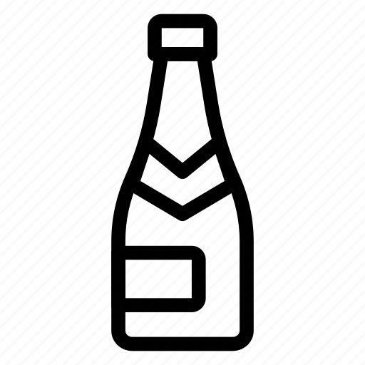 beer, bottle, champagne, water icon