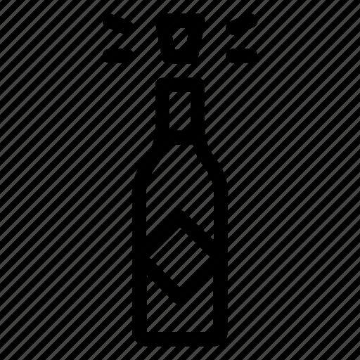 Champagne, celebration, bottle, wine icon
