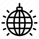 ball, decoration, disco, lighting icon