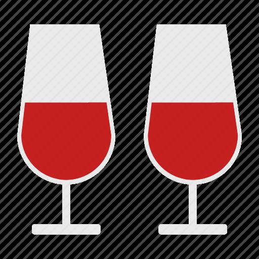 romantic, valentine, wine icon
