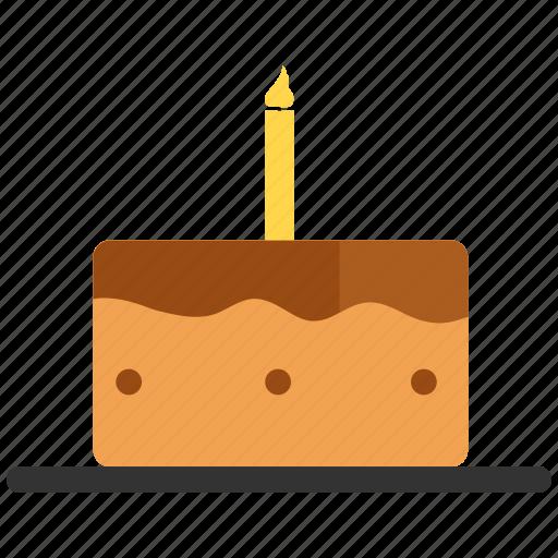 birthday cake, cake, candle, dessert icon
