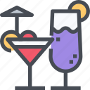 beverage, cocktail, drink, glass, party icon