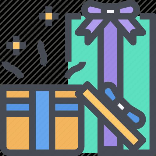 birthday, celebration, christmas, gift, holiday, party icon