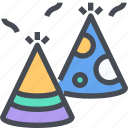 birthday, celebration, decoration, fun, hat, party icon