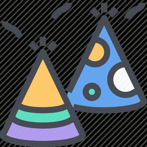 birthday, celebration, decoration, fun, hat, party icon