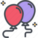 balloon, birthday, celebration, holiday, party icon
