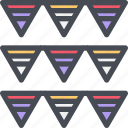 birthday, celebration, flag, holiday, party icon