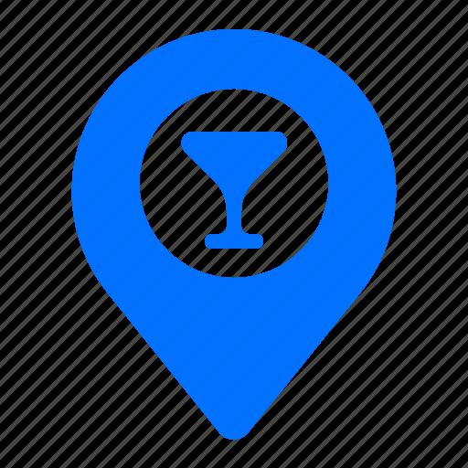 bar, beverage, drinks, location icon
