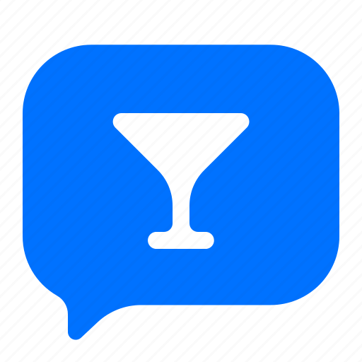chat, drinks, message, text icon