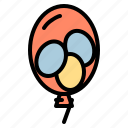 balloons, celebration, disco, party icon