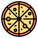 celebration, disco, fast food, party, pizza icon