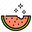 celebration, disco, fruit, party, watermelon