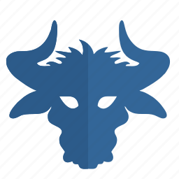 bull, face, mask, party icon